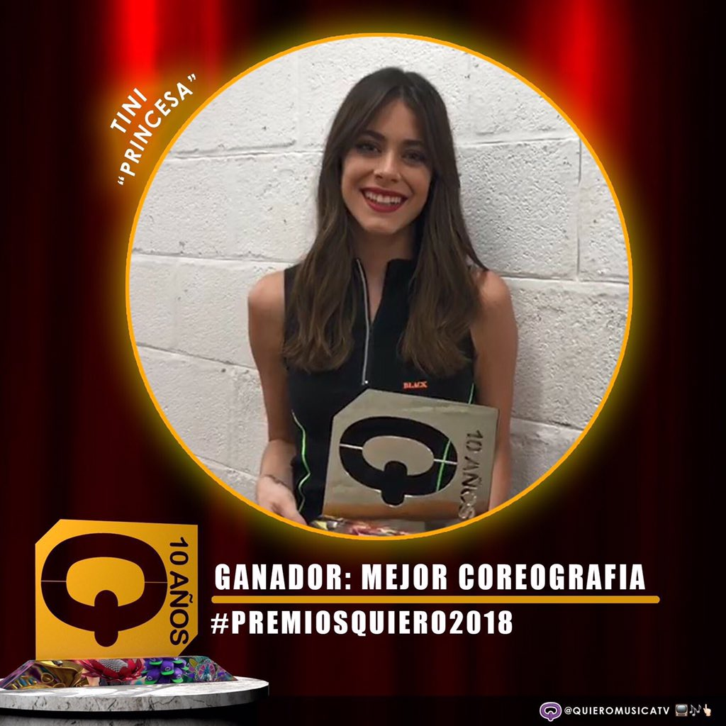 🎉 15 grudnia 🎉 Tini wygrywa nagrodę #PremiosQuiero2018 w kategorii #MejorCoreografia.