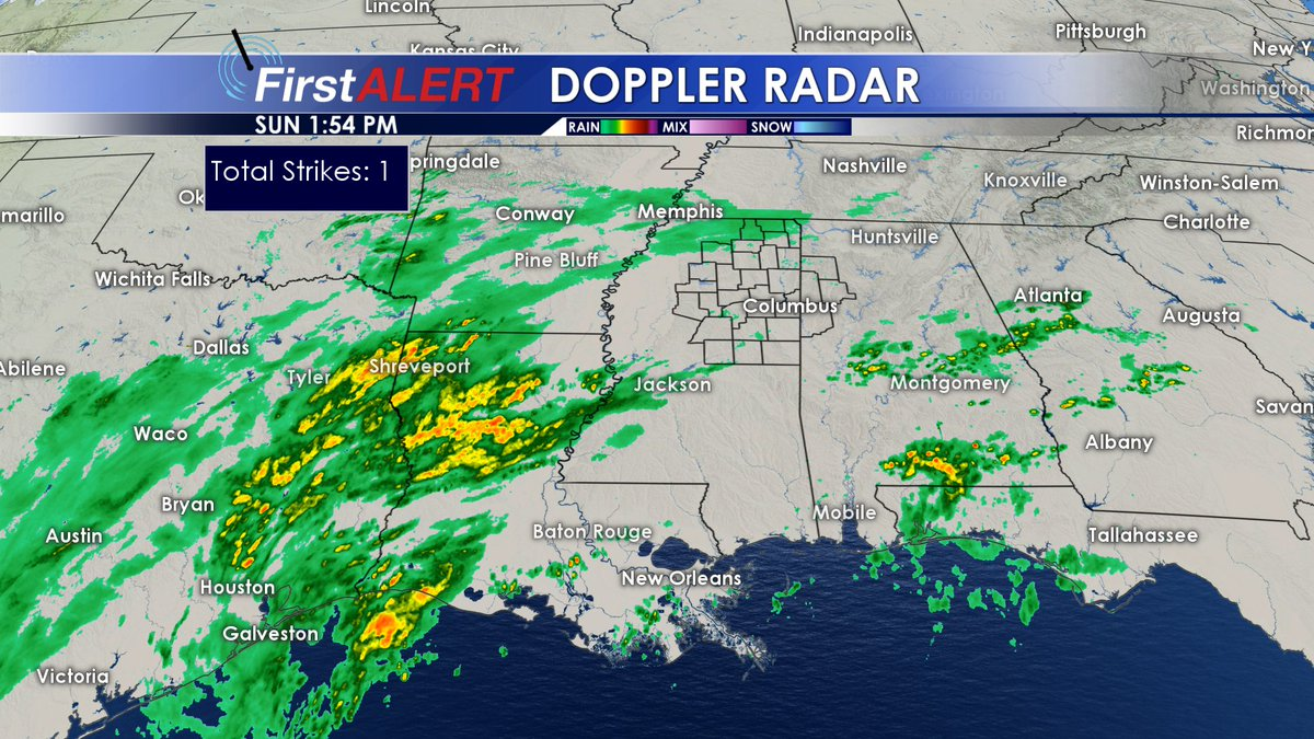 Wcbi Weather On Twitter 1 55 Pm Showers Are Lining Up To Our