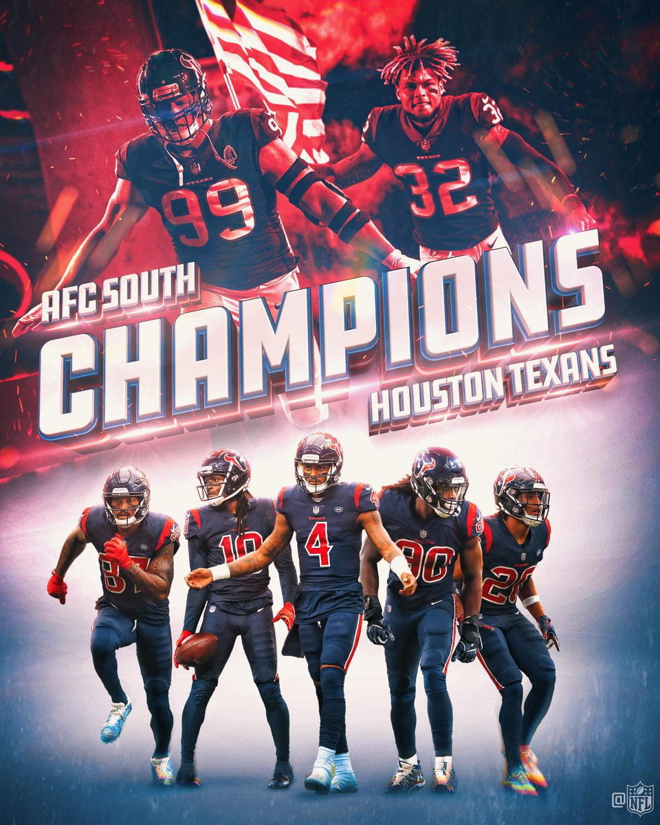 The @HoustonTexans are 2018 AFC South Champions! #Texans
