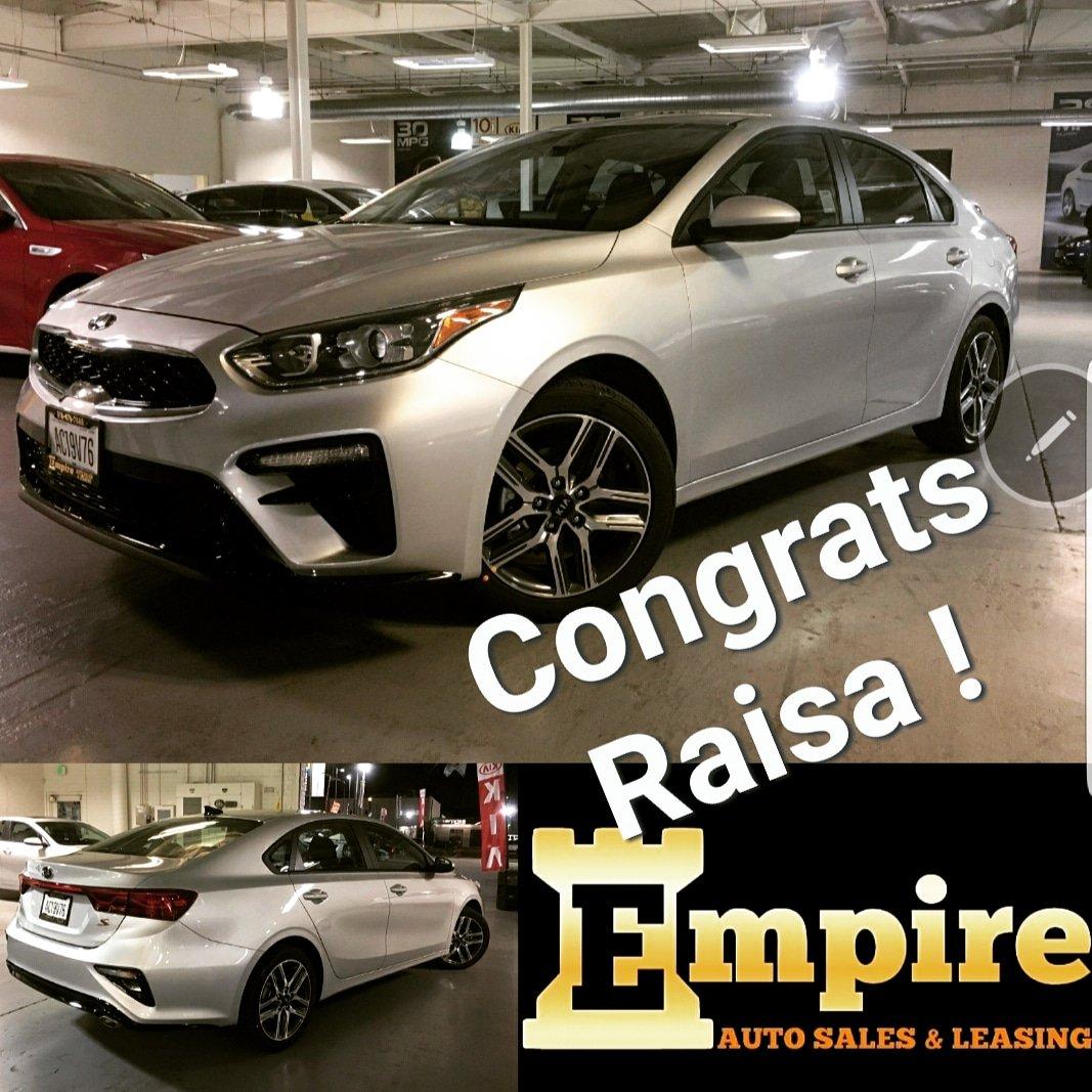 Empire Auto Sales >> Empire Auto Sales On Twitter Congratulations Raisa On Your 2019