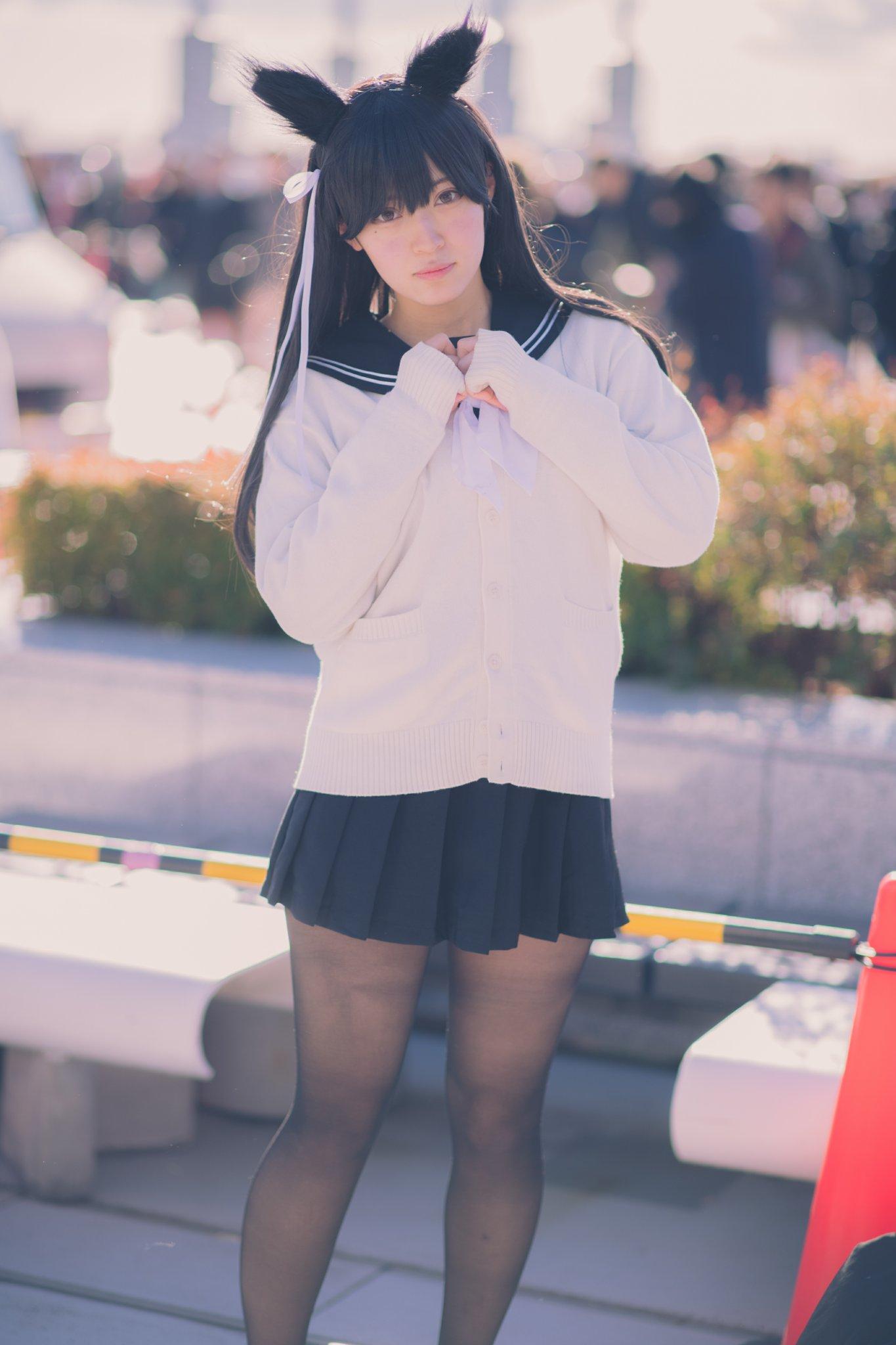 画像,コミケ二日目はアズレンの高尾と愛宕併せしてました〜!!素敵なお写真はらくのうさん(@anego_21)から頂きました(*´ー`*)(*´ー`*)#c95コスプレ…