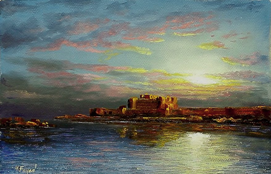 Now on YouTube Oil Painting Qaitbay Castle In Alexandria By Yasser Fayad https://www.youtube.com/watch?v=4TpewRBBkhc…