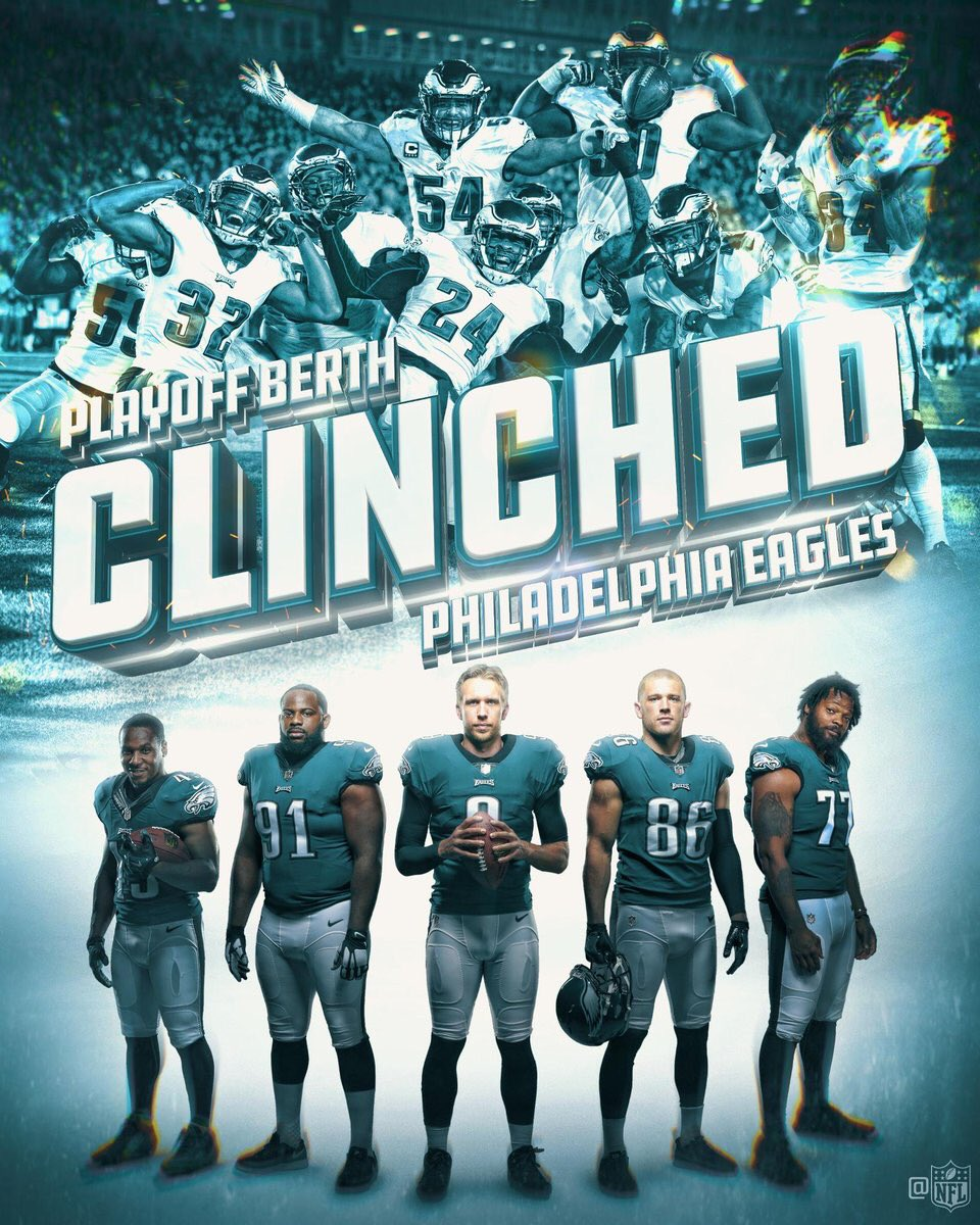 We're in! Can't ask for anything more! #FlyEaglesFly