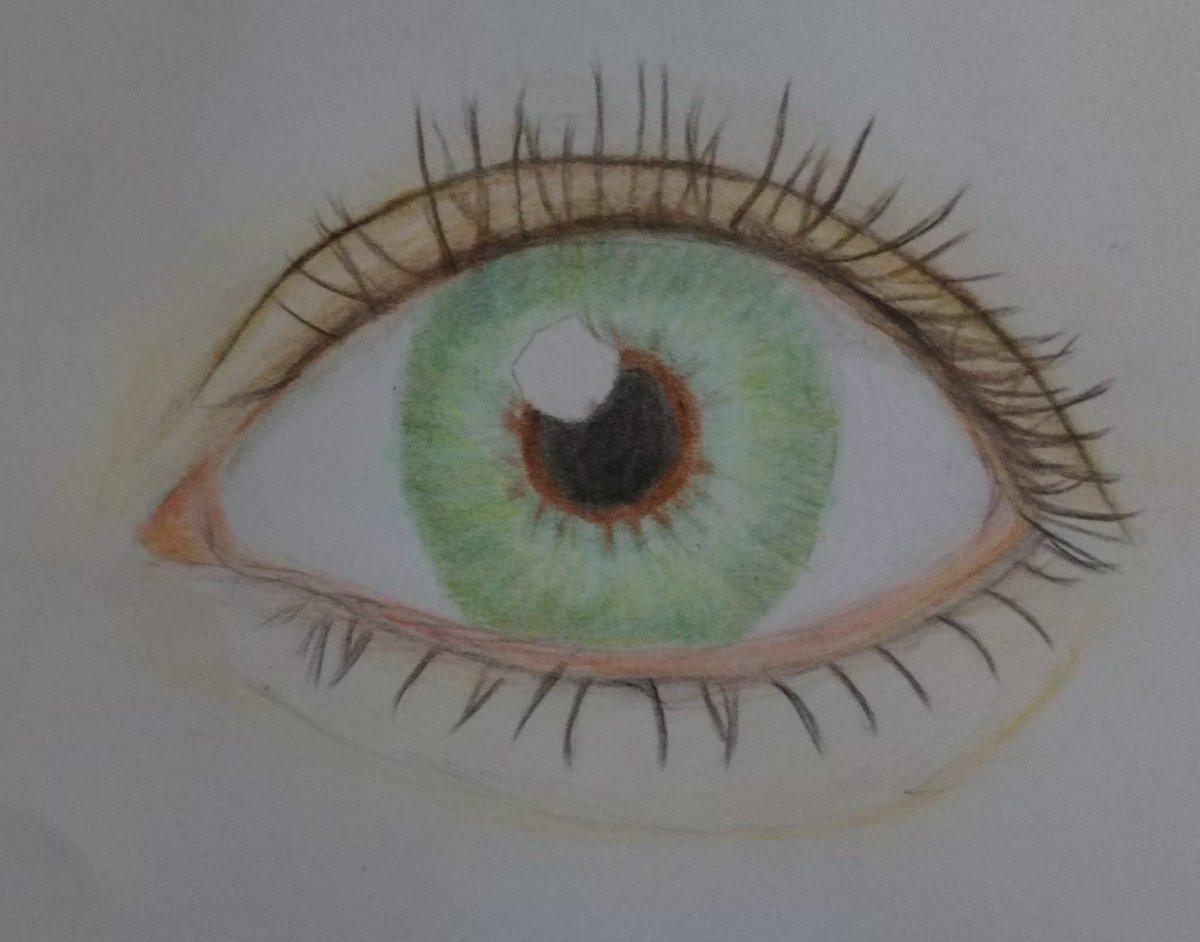 お目目 ꙭ 急いで塗ったから肌が雑 綺麗な瞳だこと 今テンションが