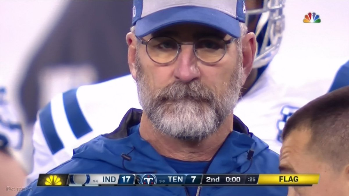 it has been bugging me all night but I finally put my finger on who Frank Reich looks like. Remember the Cheers episode where Cliff hooks up Carla with his friend Lucas? #colts #SundayNightFootball