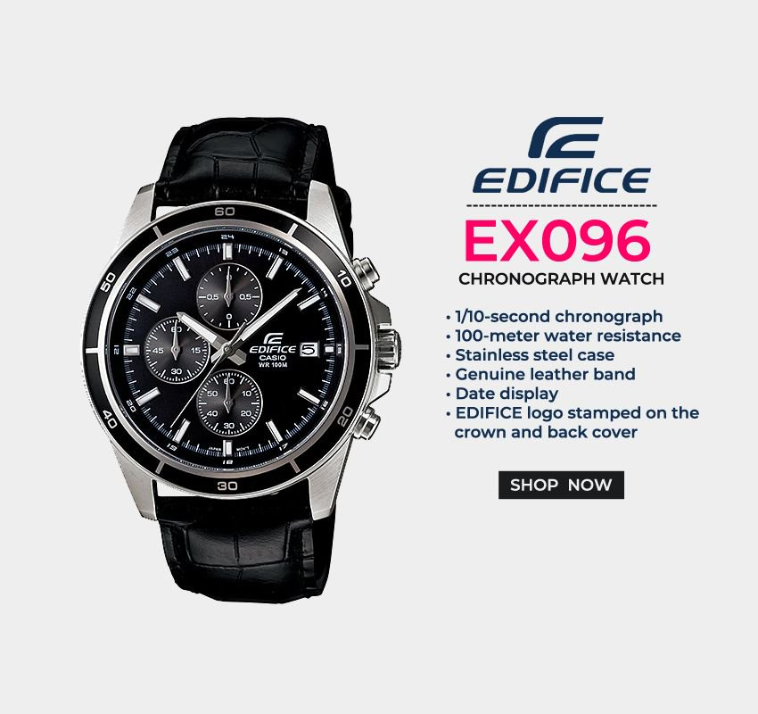 Buy Stylish Casio Edifice EFR-526L-1AVUDF (EX096) Chronograph Watch Online at Best Price from   ✓Buy at :   #edificewatches #casio #zegareknareke #zegarek #edifice #edificeoriginal #zegarki #prezent #zegarekmeski #edificewatch