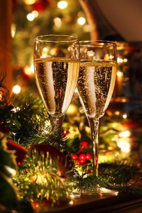 Открыток, гифки шампанское новый год