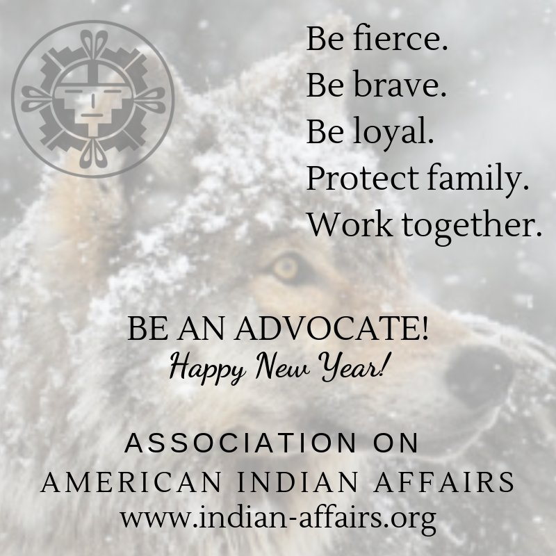 Wishing you the happiest New Year from @IndianAffairs ! Be an advocate! http://www.indian-affairs.org