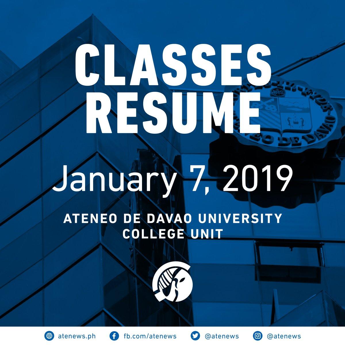 Atenews On Twitter Classesresume Classes In The Ateneo De Davao