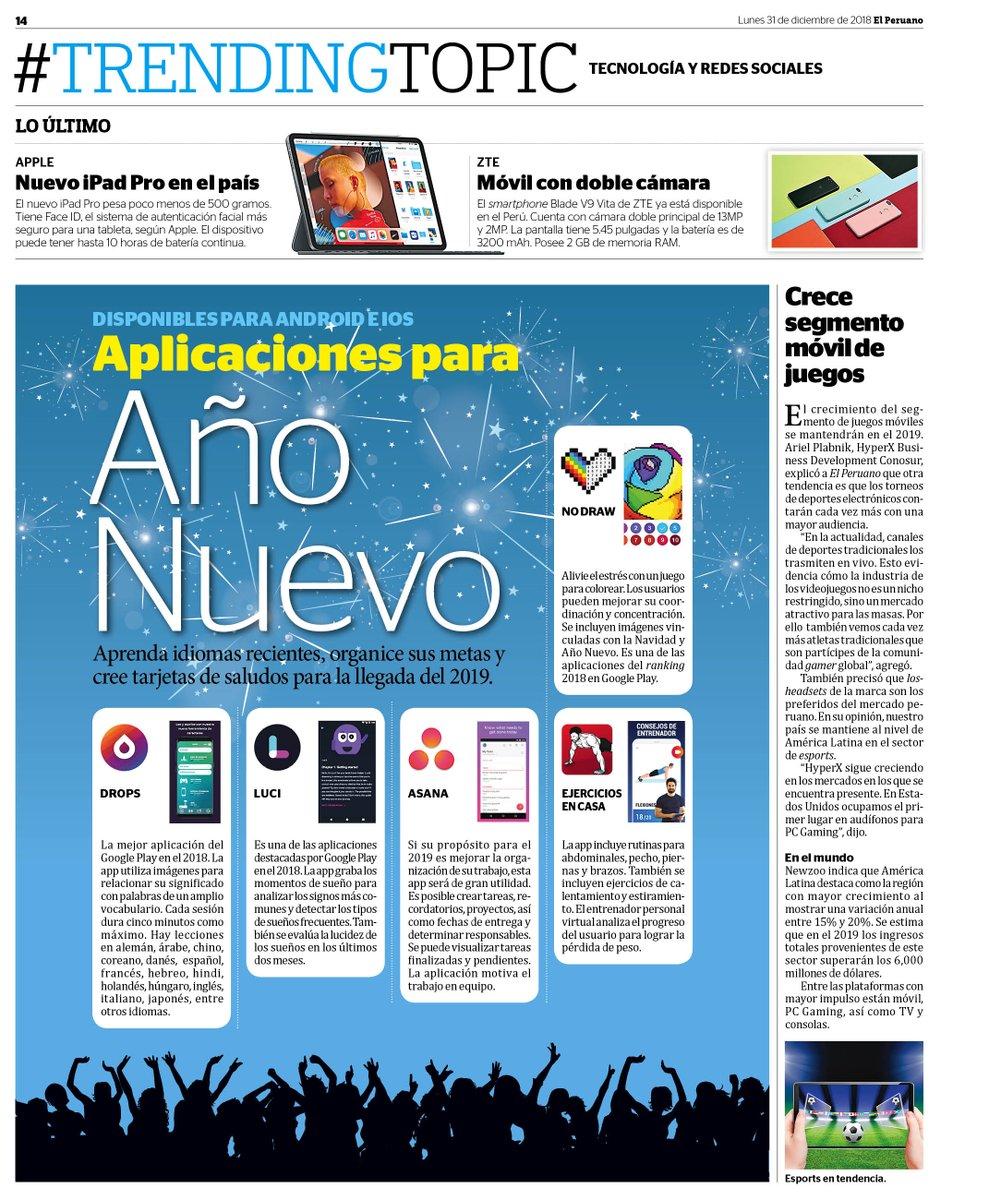 Diario El Peruano On Twitter Trendingdop Aplicaciones Para Ano