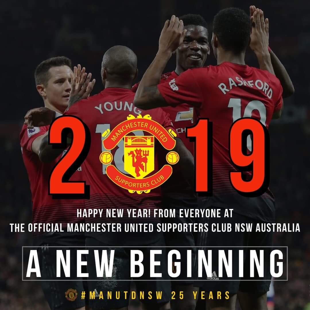 Just about to tick over to 2019 here in Sydney. From all our supporters club members, happy new year and here is to a big 2019 which sees @ManUtd return to Australia #mufc #MUFCinPerth #ManUtdNSW #HappyNewYear https://t.co/HNNE3NV32O