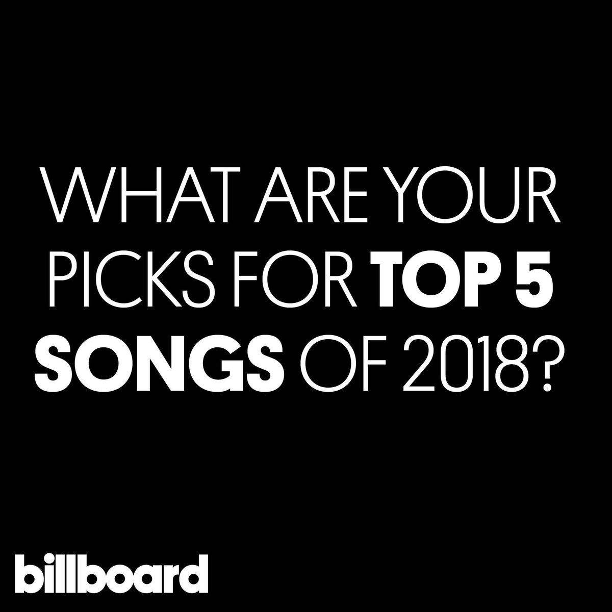Which 5 songs were your favorites this year? 🎶  #yearinmusic https://t.co/RlbSfcWl6C