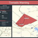 Image for the Tweet beginning: Tornado Warning continues for Ledbetter