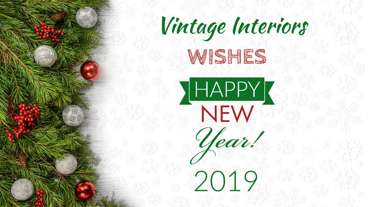 Team Vintage Interiors Wishes 🎊Happy New Year 🤩2019 to all!🥳 #Newyear #Newyearseve #Newyear2019 #Goodbye2018 #Hello2019 #HappyNewYear2019 #Celebrate #Happynewyearseve #Fireworks #Family #Holidays #Party #Happy #Cheers #Partytime #Gifts #Presents #NewYearNewYou #NewYearParty