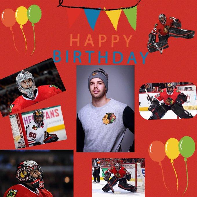Wishing Corey Crawford a happy birthday today! Happy b-day, Crow!