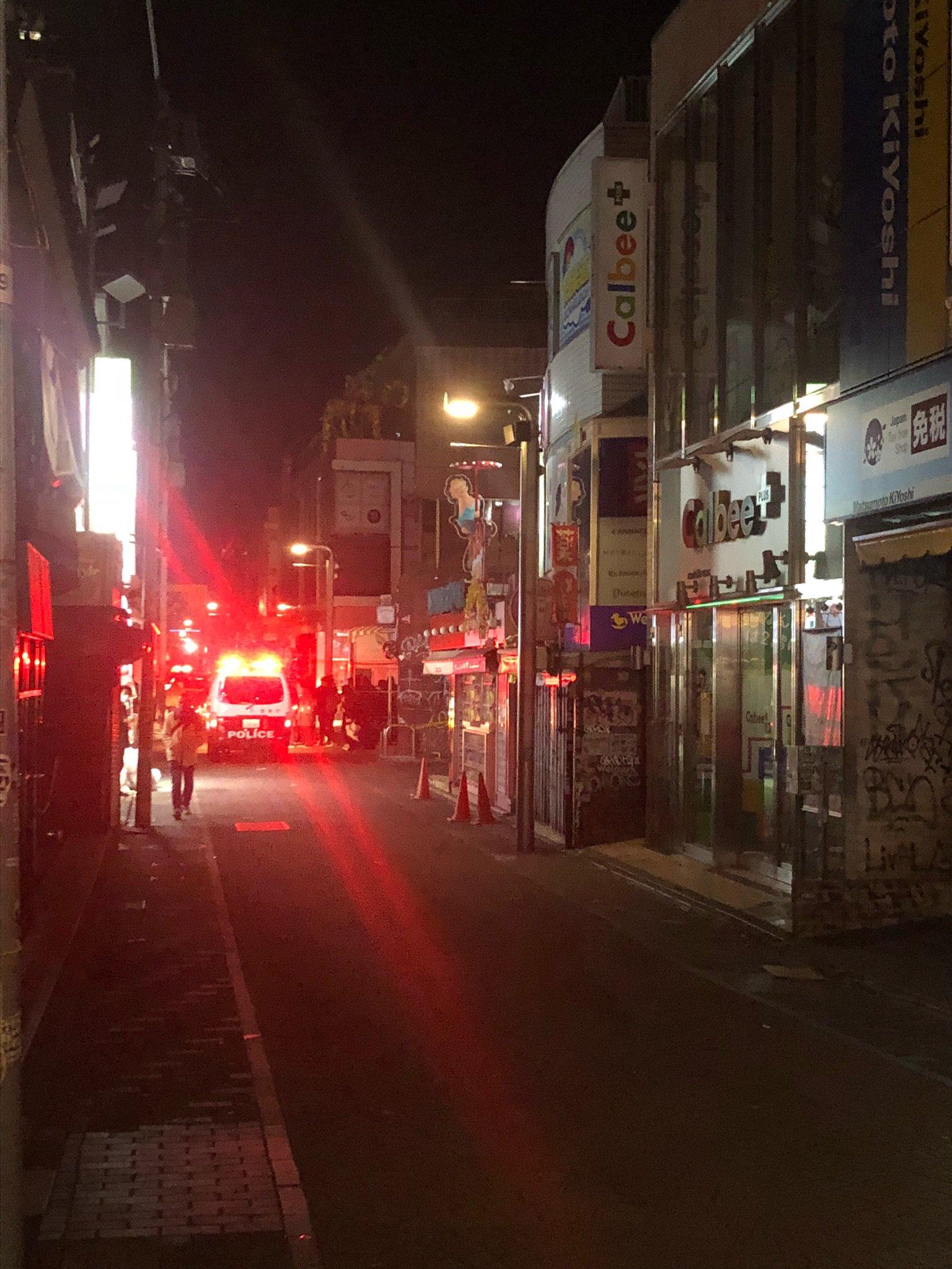 画像,竹下通りが事件発生で閉鎖中なう https://t.co/H3MVLGhwkd。