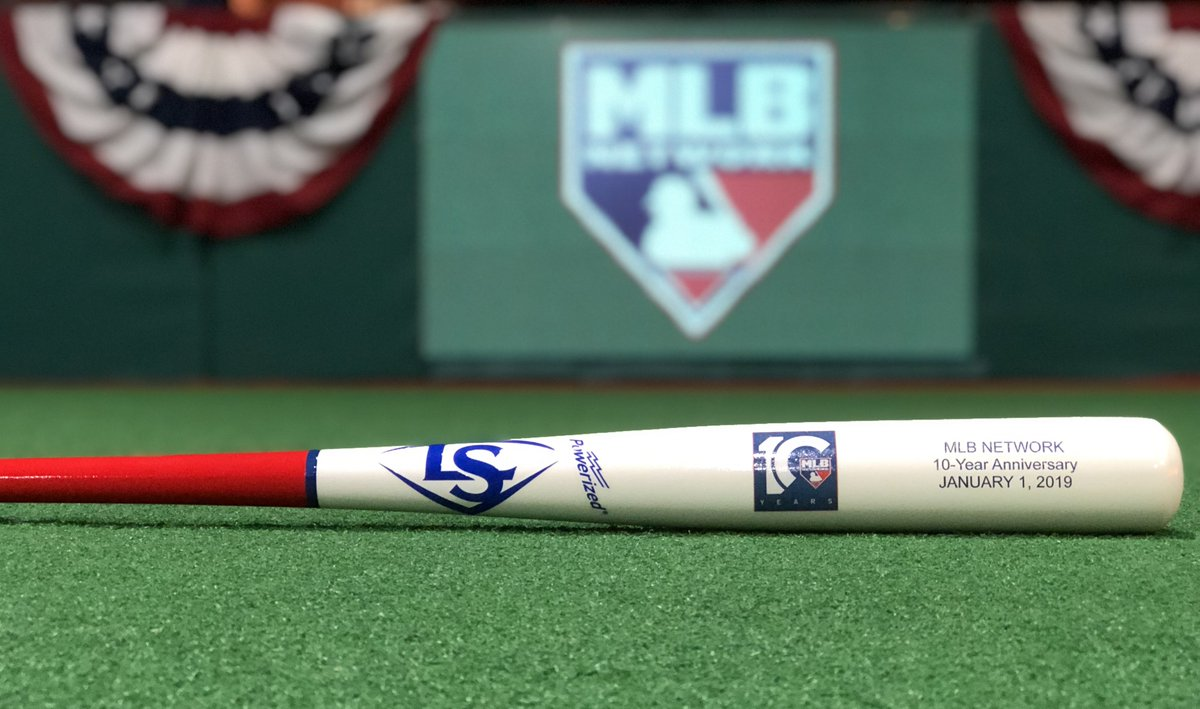 Thank you for watching the last 10 years!   RETWEET for a chance at this commemorative 10th anniversary MLB Network @sluggernation bat! #MLBN10   Rules: https://t.co/BGpsZo4uRZ