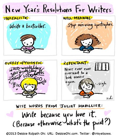 #FellowWriters, tell me:   What are your New Year's Resolutions?  #NewYearsEve #writerslife