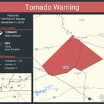 Image for the Tweet beginning: Tornado Warning continues for Cobb