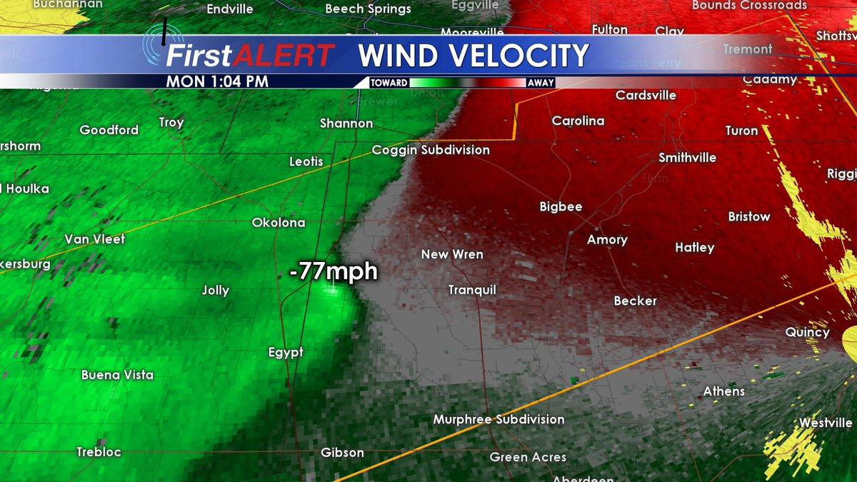 Wcbi Weather On Twitter 1 04 Pm Radar Sampling Some Very Strong
