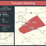 Image for the Tweet beginning: Tornado Warning continues for Mauckport