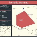 Image for the Tweet beginning: Tornado Warning continues for Central