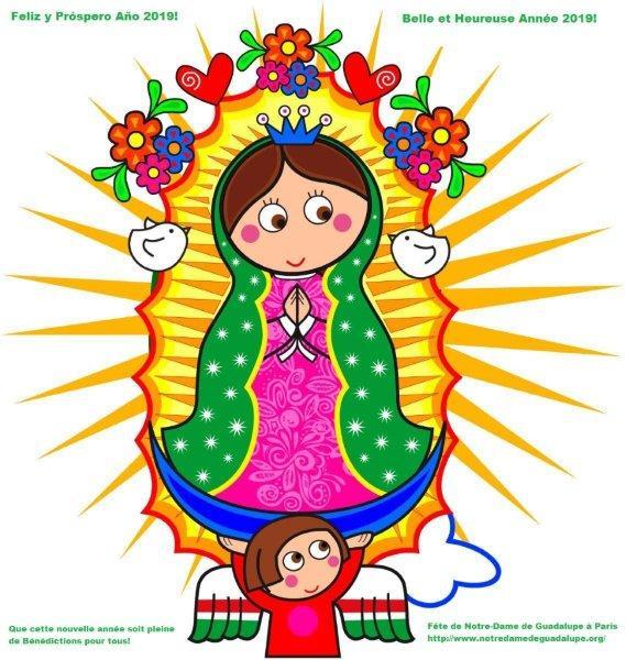 Fête Notre Dame de Guadalupe Paris 12 décembre