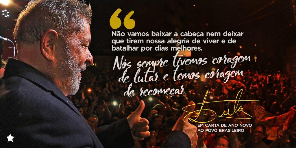 9b90ae4733e Vamos com coragem para enfrentar os desafios de 2019.  LulaLivre