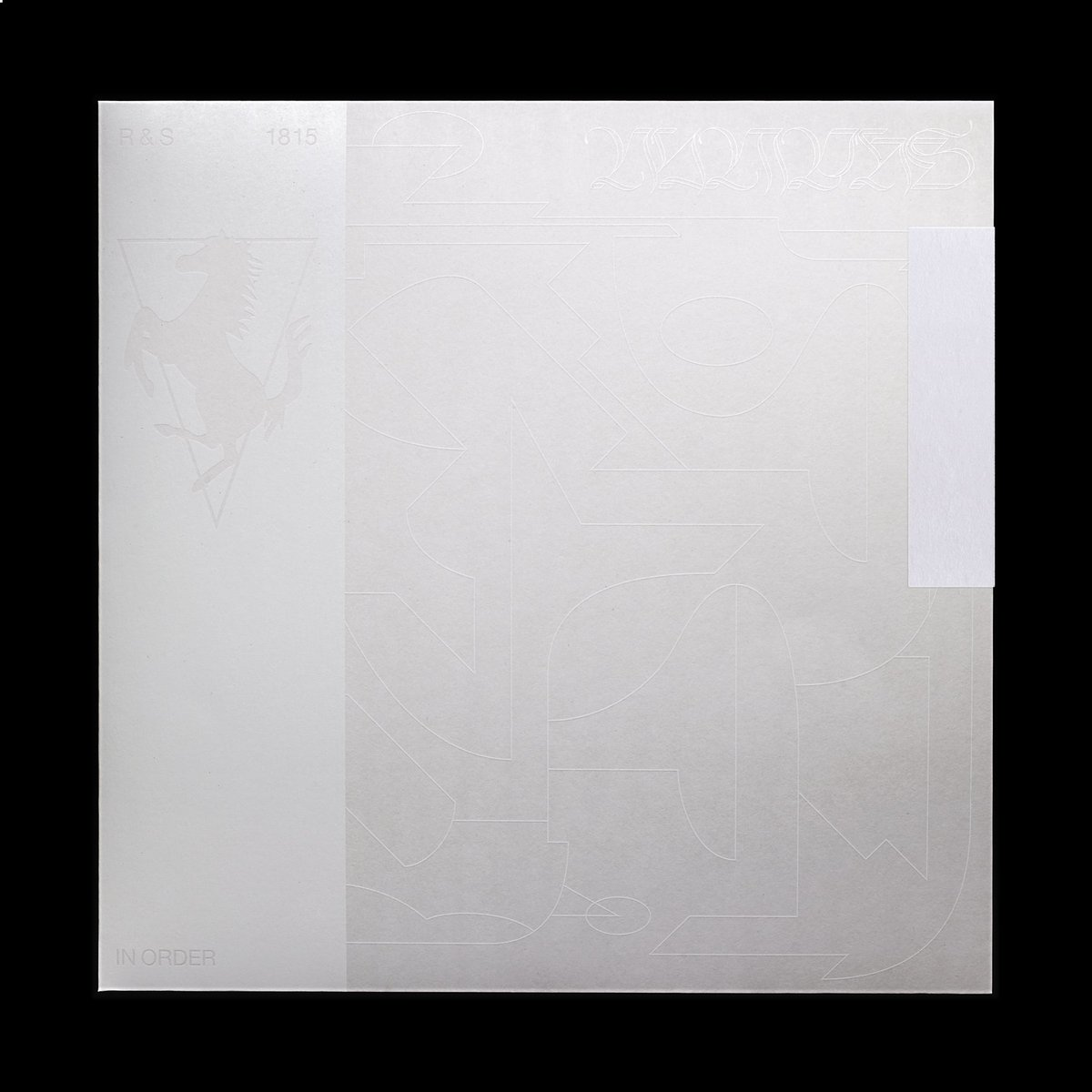New Work: RS1815 Nicolas Jaar - Nymphs treble LP, 3x paper outer sleeve w/ white screenprint. Tracklist sticker covers opening, to be cut by listener