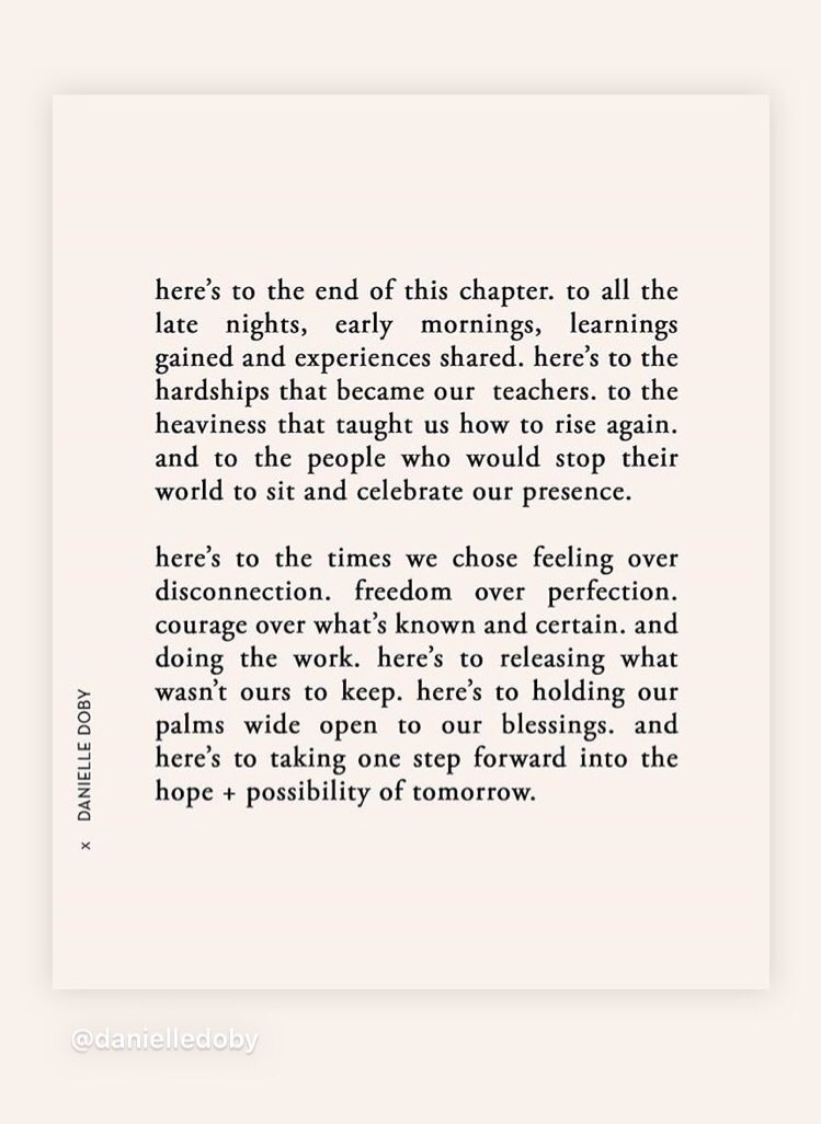 here's to the hope + possibility of tomorrow ✨