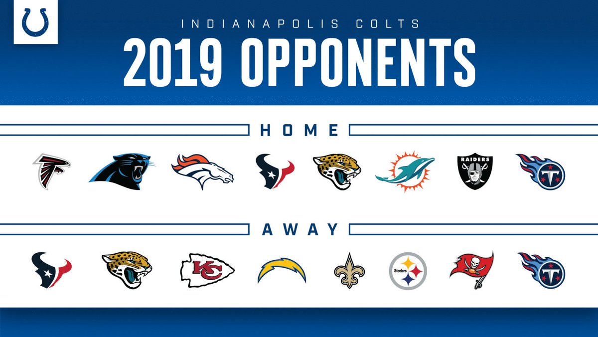 Our 2019 home and away opponents are set! ➡️ indcolts.co/mVy2pa
