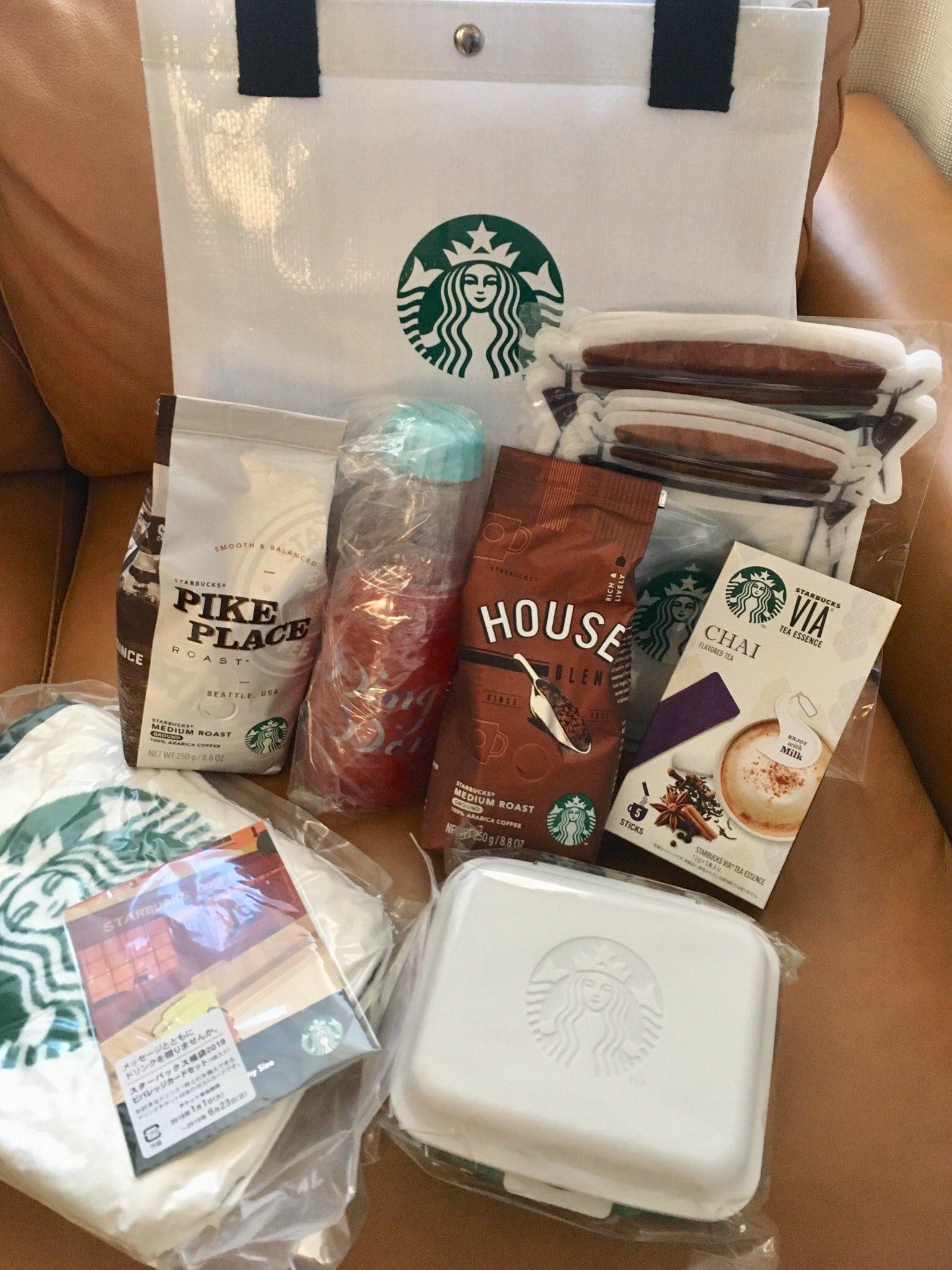 画像,スタバ福袋2019をゲット🎵ブランケット、サンドイッチボックス、ジッパーバッグなどピクニック気分を味わえる福袋ですね(^○^) https://t.co/dhQ…