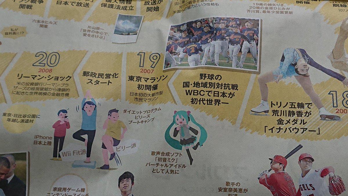 8b74308d12b5d RT  echigoya39zou  朝日新聞の平成回顧にミクさん載ってますね。元旦から良い初音初めだ。 https   t.co QIx8soaY9k
