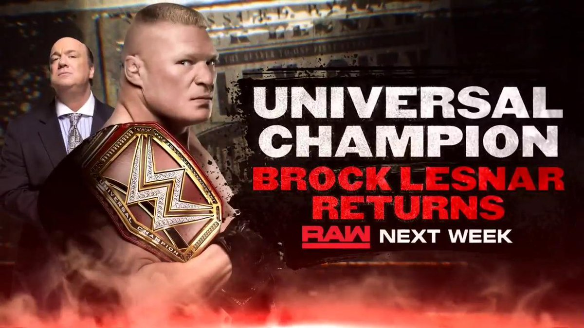 Brock Lesnar And Loaded Line-Up For The First WWE RAW Of 2019