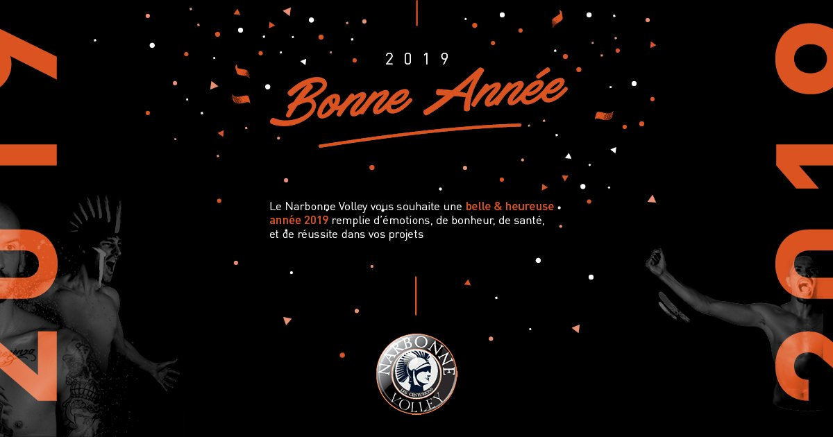 Le @narbonnevolley @LNVofficiel @FFvolley vous souhaite une belle année 2019 !...