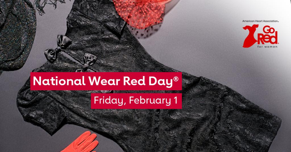 Get #red-y for National #WearRedDay® on Friday, Feb. 1, even if it's just a pop of red. Join us as we raise awareness about cardiovascular disease and save lives. Because when we come together, there's nothing we can't do. #WearRedAndGive