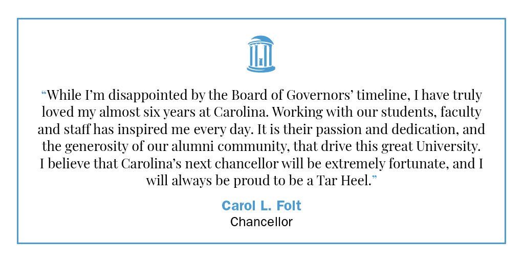 RT @ChancellorFolt: I will always be proud to be a Tar Heel https://t.co/WO6HfuySlp