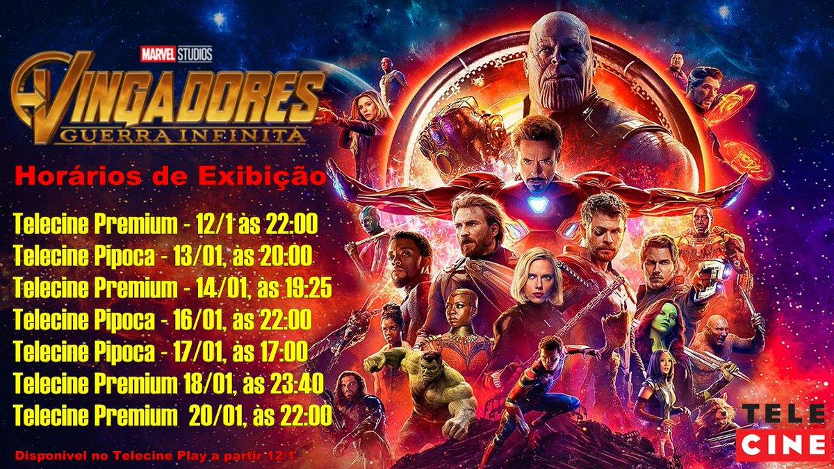 RT @ChadwickBBrasil: 📌Programação do Filme Vingadores: Guerra Infinita nos telecines. 📺 #GuerraInfinitaNoTelecine https://t.co/WR3jYIykL3