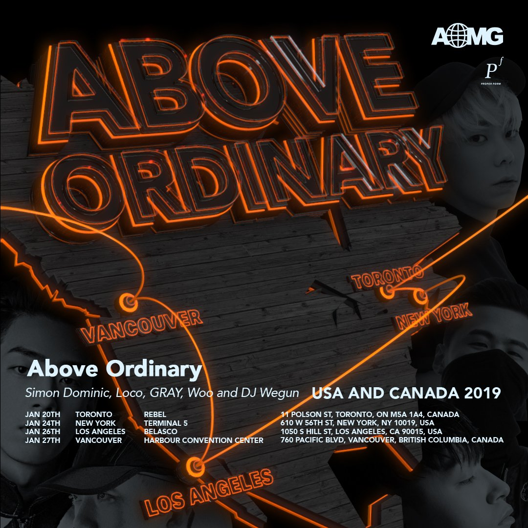 Canada: [AOMG US & Canada 2019 Tour Ticket GIVEAWAY] Enter to win