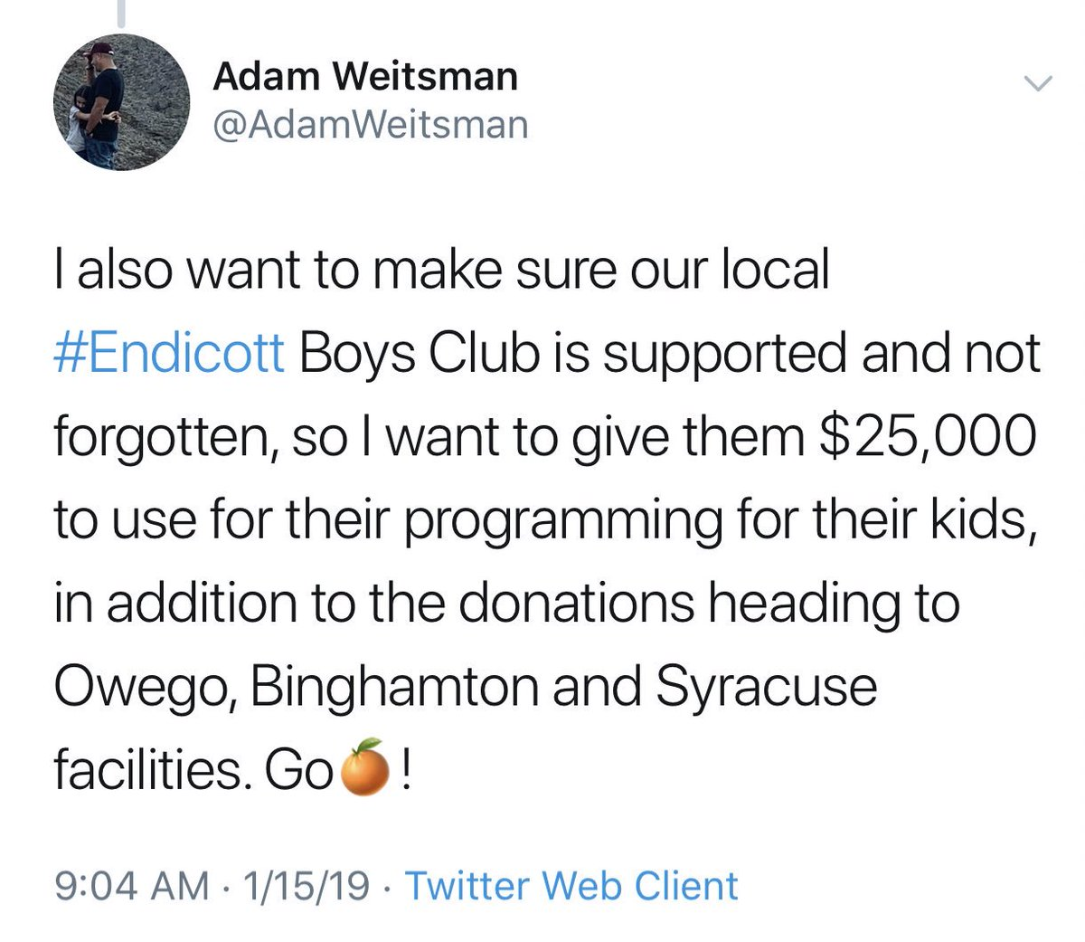 Well, what do we have here? An outlandish Twitter challenge that a guy actually delivered on? Nice work, @AdamWeitsman