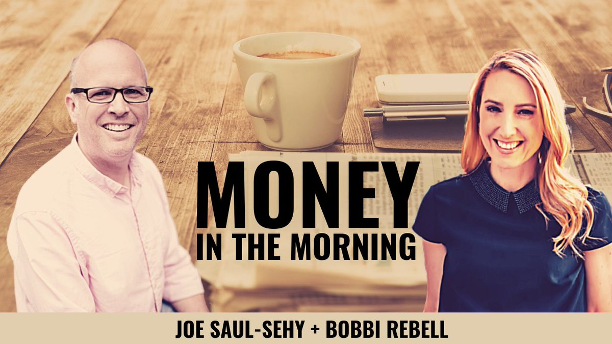 New #FacebookLive taping of #moneyinthemorning with me and @SBenjaminsCast @AverageJoeMoney happening in just one hour. Join us to maybe learn something and definitely have a lot of #laughter. Technical glitches and giggles guaranteed. http://bit.ly/2FwklcO  #newpodcast #news