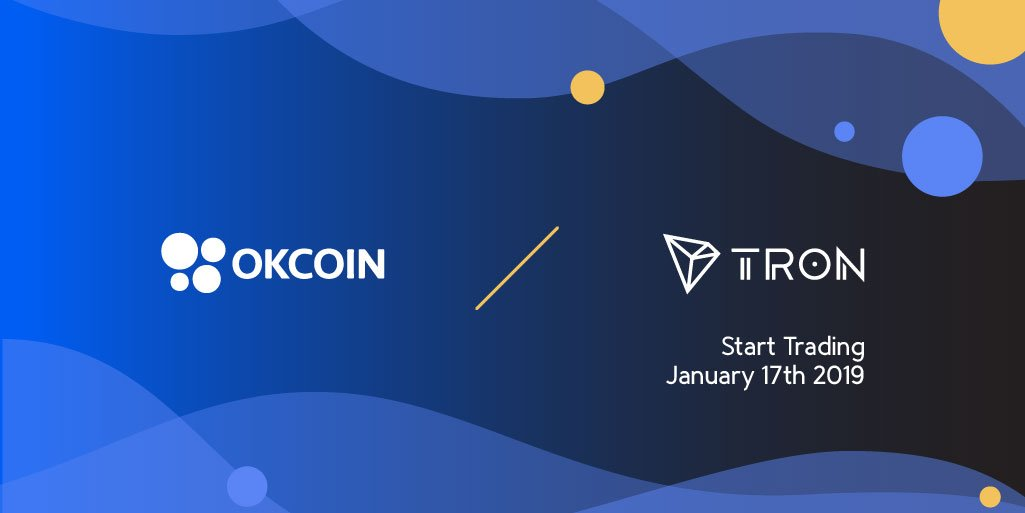Thanks for @OKCoin support! See you in SF #niTROnSummit ! #TRON #TRX $TRX