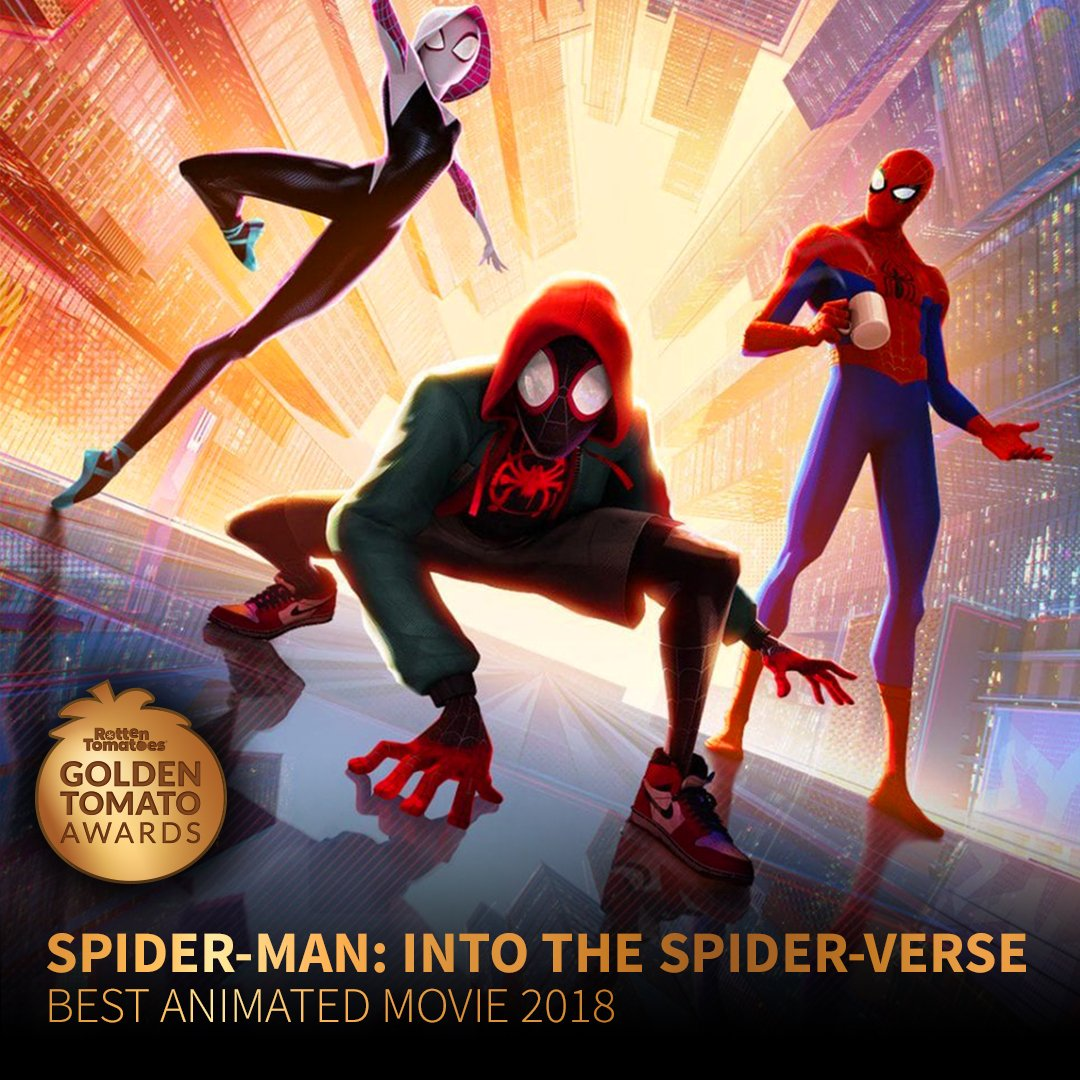 "rotten tomatoes on twitter: ""spider-man: into the #spiderverse wins"
