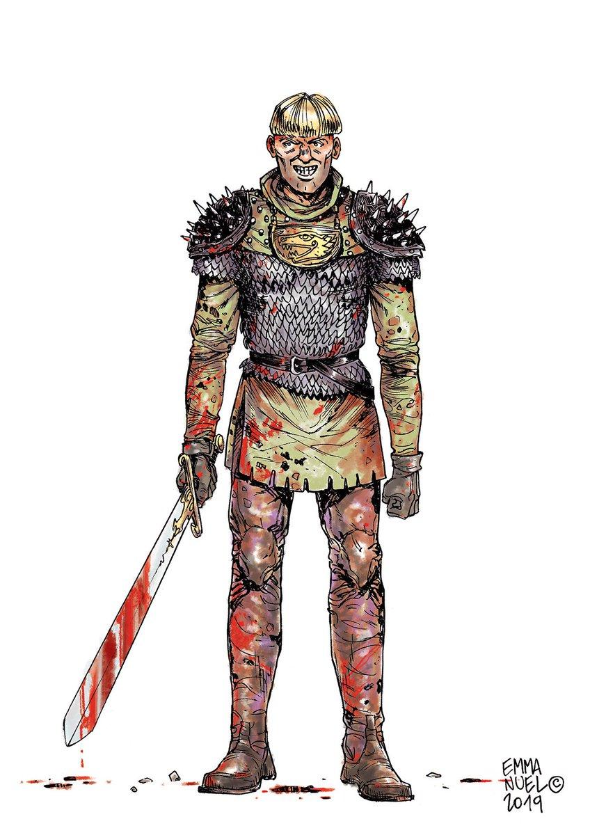 😈   Yurgen il Sanguinario / 😈   Yurgen le Sanguinaire Si lo so, non ha l'aria molto intelligente, d'altra parte con il mestiere che fa... https://lnkd.in/gtaiuGh   mix tradi (Japanese / European pens + #digitalPainting) #medieval, #NorthernSagas, #Vikings, #Warlord, #Berserk