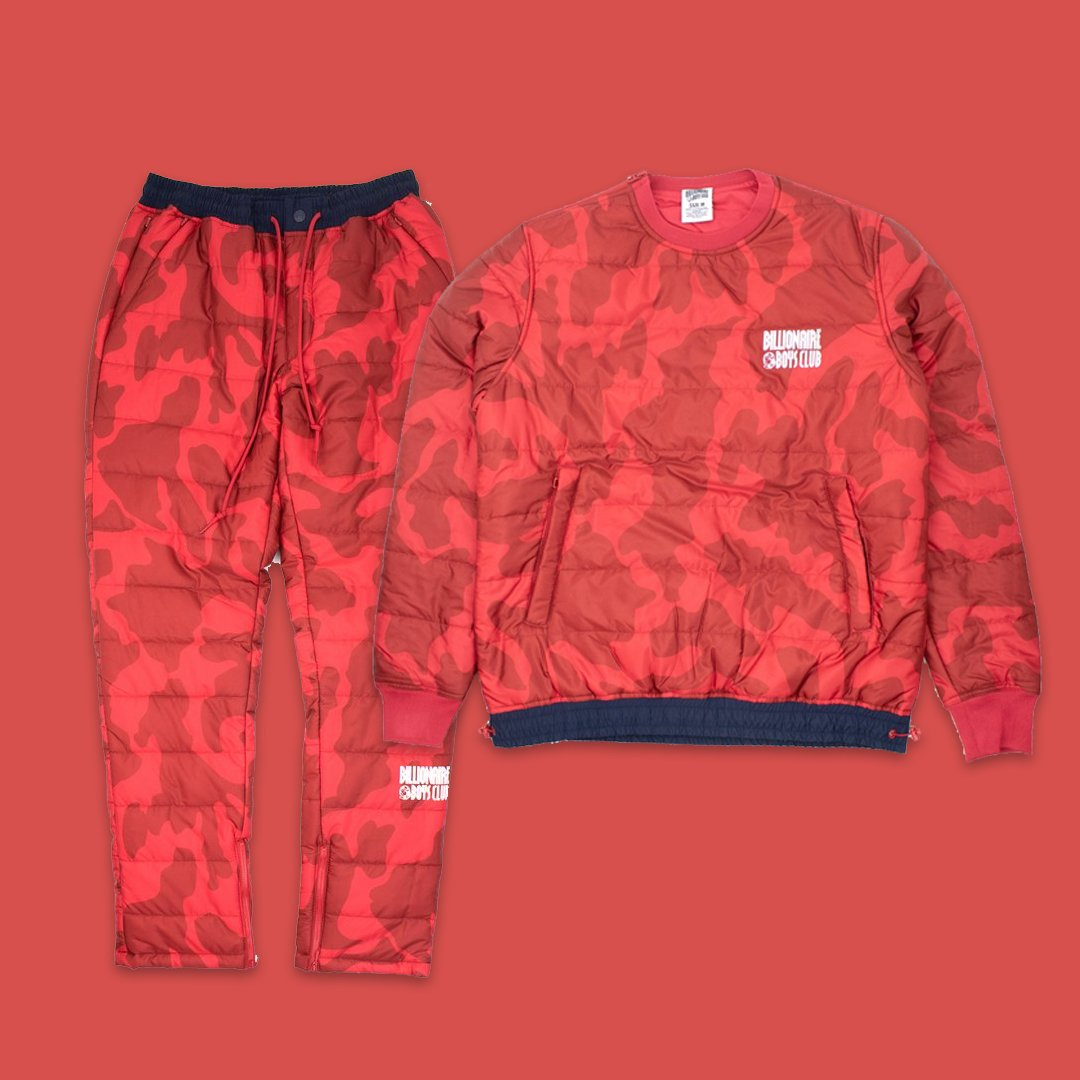 Billionaire Boys Club Champion LS and Legend Pant in Red. Now available online  https:// bit.ly/2FxQJvx  &nbsp;  <br>http://pic.twitter.com/BjGmRXkp1D