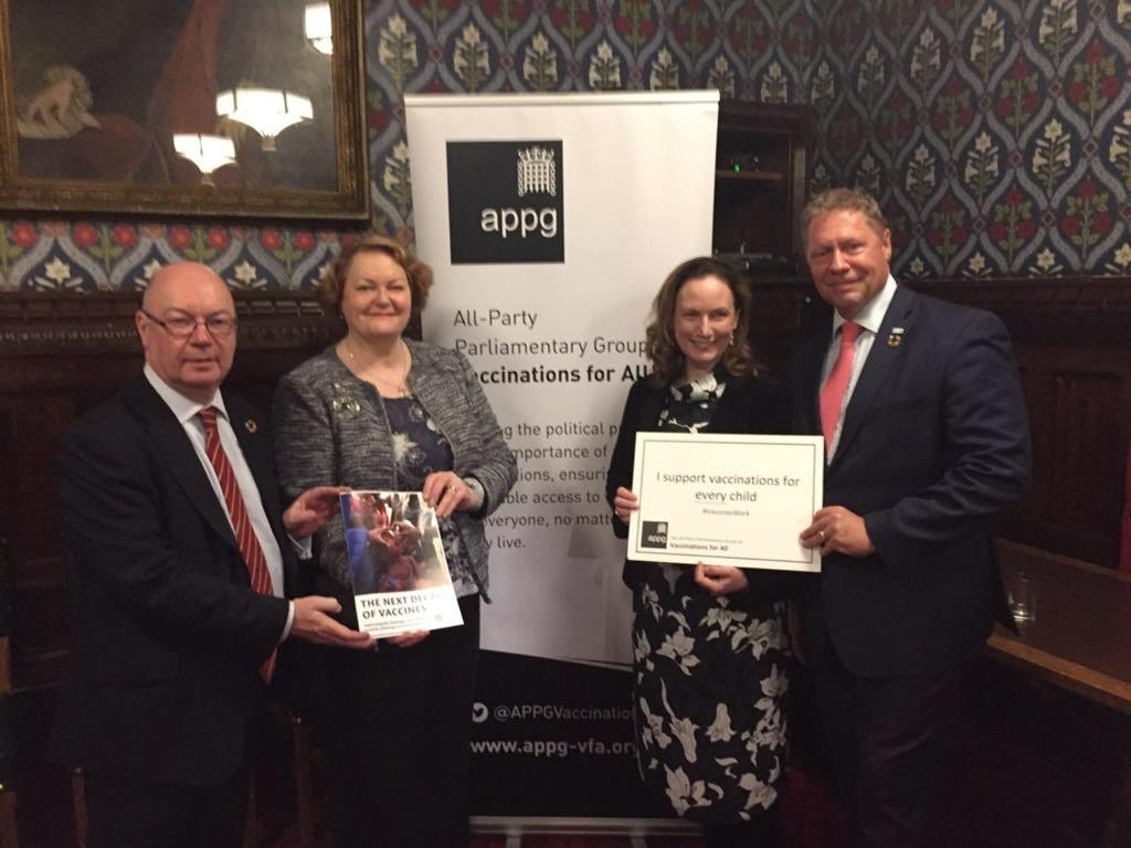 Tonight I spoke at @APPGVaccination for launch of their report on 'The Next Decade of Vaccines' highlighting the vital role the UK plays in immunisation. Through @gavi we will vaccinate 76 million children in the poorest countries of the world by 2020. #aidworks