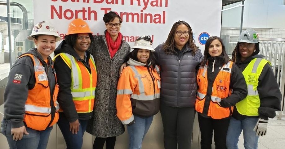 Congratulations to the 95th Street team on completing the 95th Street Terminal Improvement Project. (L-R) CCC,  Milhouse, Mary Persons, CKL&#39;s Safety Manager Joy Banks, CKL Engineers CEO Mae Whiteside, SQN, &amp; FHP. &quot;There is no limit to what we can accomplish&quot; #CKLEngineersLLC<br>http://pic.twitter.com/n1fsQccpqg