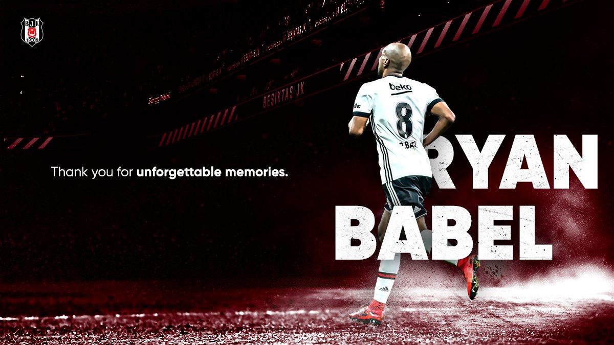 RT @BesiktasEnglish: Thank you for your services Ryan Babel #Beşiktaş https://t.co/hrO6P6zlKy