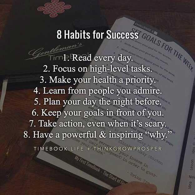 8 Habits Of SUCCESS: