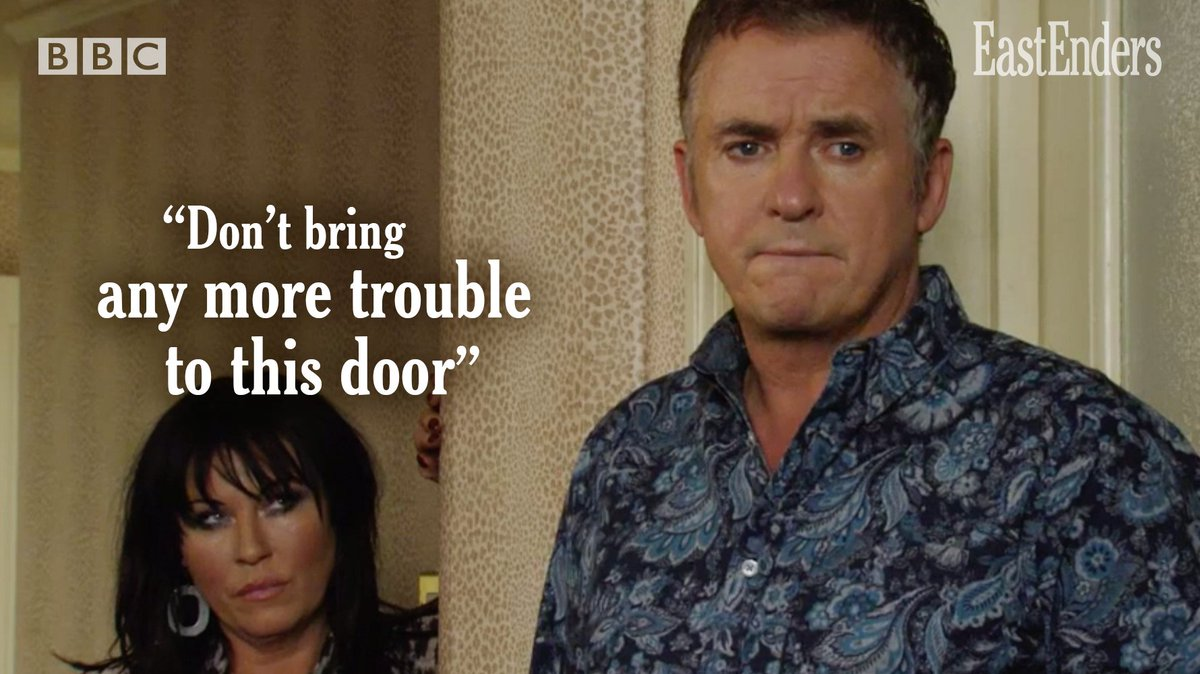 He will knock four times. #EastEnders